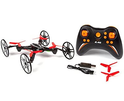 3 In 1 Rc Drone Quadcopter 4 Channel Stunt 2.4ghz Spy 6 Axis Flying Wheels Wall.