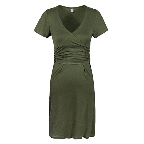 KingField - Robe - Crayon - Manches Courtes - Femme Amy Green