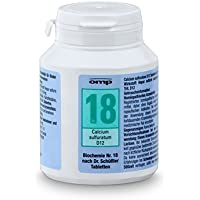 Schüssler Salz Nr. 18 Calcium sulfuratum D12 - 400 Tabletten, glutenfrei