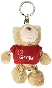 NICI n15806-Llavero Oso con Camiseta Giorgia, Rojo