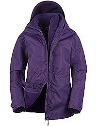 Mountain Warehouse Veste 3 en 1 Femme étanche Intérieur Polaire détachable Toutes Saisons