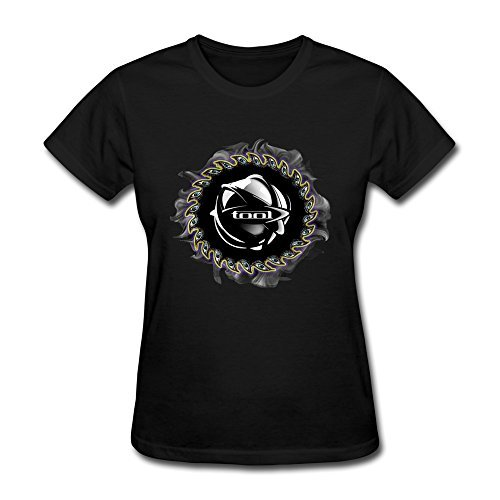 Temporal(TM) Women's Tool Aenima Art Logo T-shirt Black