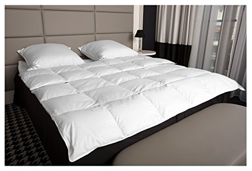 Mayaadi-Home MA24 Winter Daunendecke Bettdecke Daunen Steppbett Extra Warm Daunen 135x200cm 1600 Gr 100 prozentiges Naturprodukt