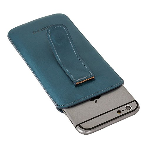 BENITO Leder Case für Apple iPhone 6/iPhone 6S (Multicase Antic Coffee), Leder, hautfarben, iPhone 6 / 6S blau