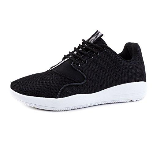 Dos Rendas De Homens Tênis Fitness Tênis Sneaker Unissex Preto Corrida De Desportivas Até XxwEqRFC