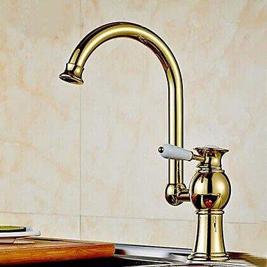 Preisvergleich Produktbild Crystal DecoreCenterset Ti-PVD Finish Kitchen Faucet