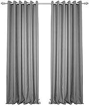 1 Piece Grommet Curtain Sheer Romantic Window Curtains for Bedroom Living Room (grey, Width 140*Length 260)