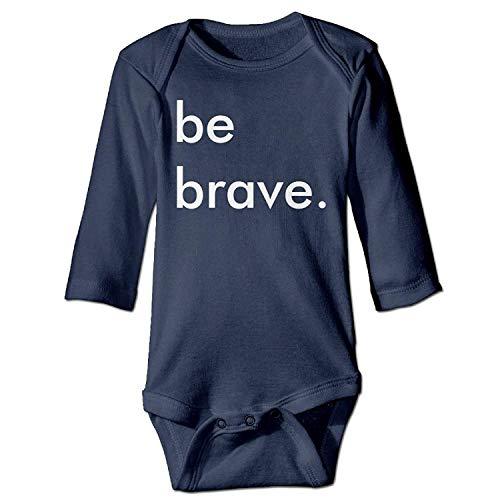 MSGDF Unisex Toddler Bodysuits Be Brave Ladies Black Girls Babysuit Long Sleeve Jumpsuit Sunsuit Outfit Navy