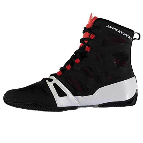 Lonsdale Herren Barnburner Boxstiefel Boxen Schuhe Stiefel Boxschuhe Sportschuhe Schwarz/Rot