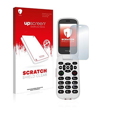 upscreen Scratch Shield Clear Bildschirmschutz Schutzfolie für Doro 7060 (Inneres Bildschirm) (hochtransparent, hoher Kratzschutz)