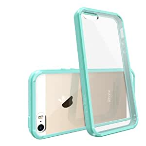 iPhone 5S / 5 Case, Ringke [FUSION] Crystal Clear PC Back TPU Bumper [Drop Protection/Shock Absorption Technology] for Apple iPhone SE 2016 / 5S / 5 - Mint