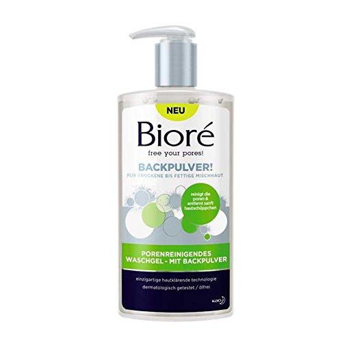 BIORÉ Porenreinigendes Waschgel mit Backpulver 200 ml Waschgel für porentiefe Reinigung von junger Haut