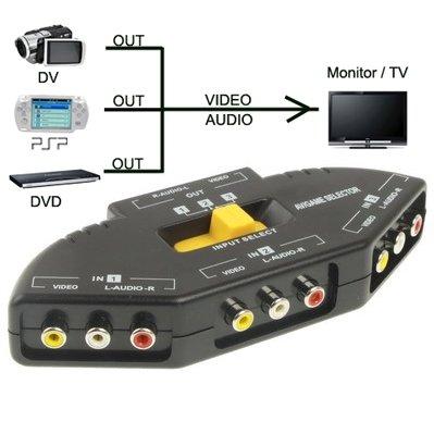 MEIHE-Cables/Adapters Kabel und Adapter AV Audio-Video Signal Switcher, 3 Gruppen Eingang und 1 Gruppenausgang (Farbe : Schwarz)
