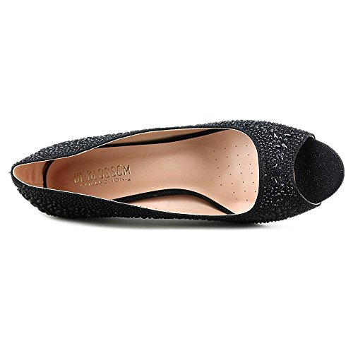 De Blossom Collection Bertha Rund Synthetik Stöckelschuhe Black