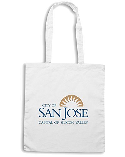 T-Shirtshock - Borsa Shopping TM0062 City of San Jose citta Bianco