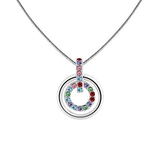 BULINGBL Halskette Damenring Anhänger Halskette Short Alloy Necklace, B