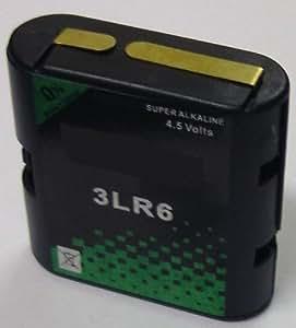 4,5 V flachbatterie wechselgehäuse 3LR6 dans boîtier avec 3 piles mignon aA