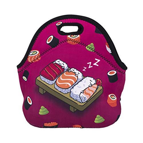 goodjinHH Lunchtasche Wasserdicht Mittagessen Tasche Isolierte Mittagessen Kühler Neopren Picknicktaschen für Frauen Kinder Mädchen Männer Jungen Büro Lebensmittel Schule Reisen (A) -