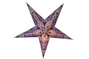 Joli motif naturesco ciel etoile le papier mauve, violet, argent 60 cm + câble glitzerdeko &suivant: