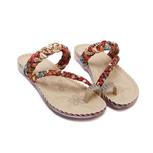 LIXIONG Portable Chaussures à chaussures plates Chaussures confortables étonnantes Chaussures et sandales décontractées à la mode -Chaussures de mode ( Couleur : A , taille : EU39/UK6/CN39 ) A