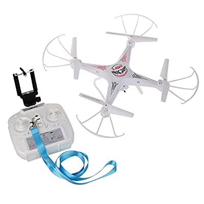 WESTLINK FPV Drone RC Quadcopter with WIFI HD 2MP Camera LED Light 4CH 2.4G 6 Axis 3D Rolling + extra 1pc battery