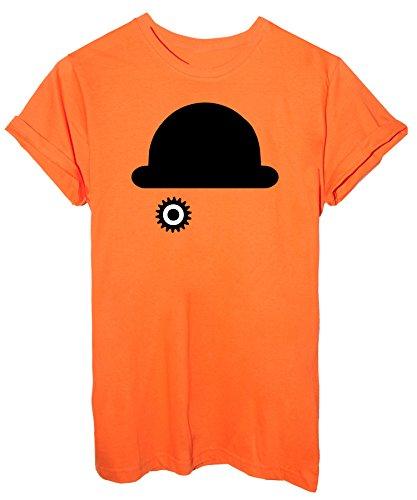 T-Shirt Arancia Meccanica Cappello Occhio - Cinema Arancione