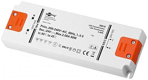 Goobay LED Trafo 24V (DC) für 0,5 bis 50 Watt LED-Lampen, 1 Stück, 30618