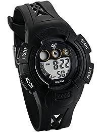 86880c669fac JewelryWe Relojes para Niños Niñas Reloj Deportivo Digital Para Aire Libre  Reloj Infantil Negro
