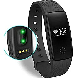 Willful Fitness Tracker Pulsera Inteligente Monitor de Pulso Cardiaco Pulsera Inteligente Deporte Actividad Tracker con Contador de Calorias/Monitor de Sueño/Contador de Pasos/Reloj,Compatible con iOS, Android Smartphone Soporta Llamada Mensaje (negro)