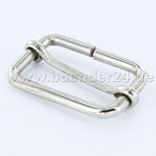 Regulator / Schieber aus Stahl, für 30mm Gurtband - 10 Stück