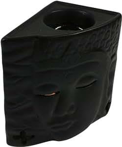 LAMPE bRULE-paRFUM bOUDDHA en céramique noir/diffuseur et lampes à huile
