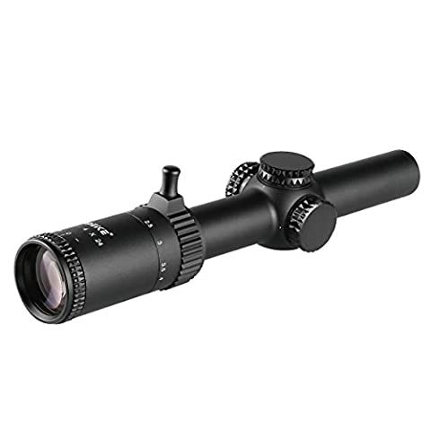 Meike M2404E 1-4x 24mm Arms Riflescope with Illuminated Reticlec,Matte Black