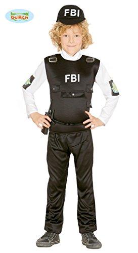 FBI Agent Kostüm für Kinder Polizist Polizeikostüm Cop SEK SWAT Gr. 110-152, (Agenten Kostüme Kinder)