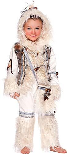 Costume di carnevale da eschimese neonato vestito per neonato bambino 0-3 anni travestimento veneziano halloween cosplay festa party 50697 taglia 3