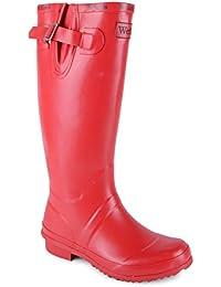 New Ladies Waterproof Wellies Wellington Boots Festival Rain Snow
