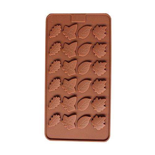 Fornateu Blatt-Silikon-Süßigkeit-Form-Untersatz für Schokoladen-Kuchen-Deckel-Gummies Ice Soap Butter-Gelee-Kuchen-Dekoration