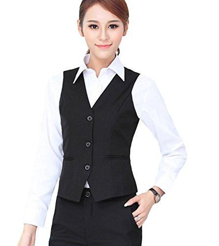 SK Studio Women s 2 Piece Slim Fit Vest Pants Suits  b1533ec5a4