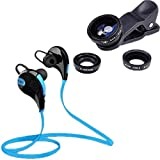 Starford Jogger Bluetooth 4.1 Stereo Sports Headset With Universal 3in1 Mobile Phone Camera Lens Kit(Fish Eye Lens, 2in1 Macro Lens & Wide Angle Lens) For Android/iOS Devices