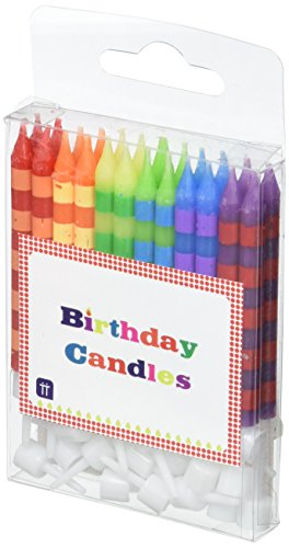 Talking Tables HB Birthday Bash Striped Candles, Mehrfarbig, 8cm