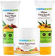 Mamaearth De-Tan Facial Kit (Ubtan face Wash, Ubtan Face Mask & Ubtan Face Scrub Co