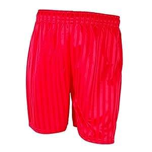 School Uniform Sports P.E. Football Shadow Stripe Shorts - Boys & Girls Red M - 5