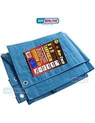 Heavy Duty cubierta de lona impermeable, lona de suelo impermeable azul para Camping, todos los tamaños de 4a 24pies/1,2m a 7,3m, 9 x 6 ft / 2.7m x 1.8m