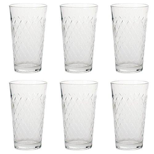 RASTAL 122252 Apfelweinbecher, Apfelweinglas, 250ml, H 12,5cm, klar (6 Stück) (Gerippte)