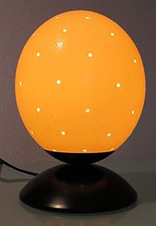 """Lampe autruche oeuf """"57 trous"""" avec base en métal de 15 cm"""