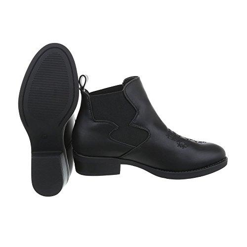 Ital-design Chelsea Boots Scarpe Da Donna Chelsea Boots Block Heel Block Heel Black Boots Fc-h83-