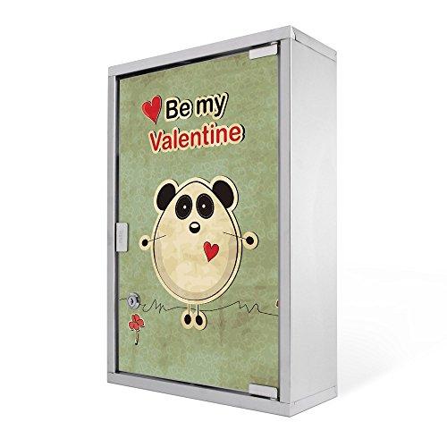 #Medizinschrank groß Edelstahl abschliessbar 30x45x12cm Arzneischrank Medikamentenschrank Hausapotheke Erste Hilfe Schrank Motiv Be My Valentine#