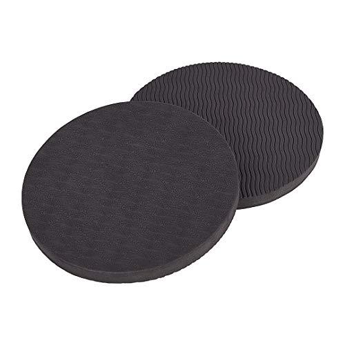 KSS 1 Paar runde Yoga Kissen in verschiedenen Farben - 170 mm Durchmesser - Knieschoner Ellenbogen Schutz Sport Zubehör