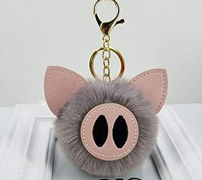 WYBL Juguetes De Cerdo para Niñas Niños Cumpleaños Regalo Colorido Suave Peluche Animal Mochila Cerdo Llavero Colgante Muñecas 12 Cm Gris de WYBL