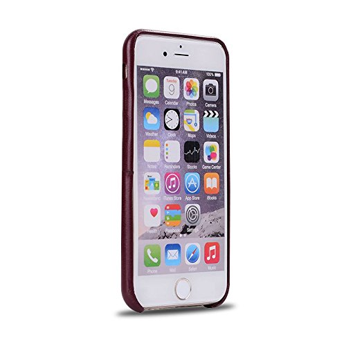 """HYAIT® For IPHONE 6 4.7"""" Case[PU][Credit Card Slots] Dual Layer Hybrid Armor Rugged Plastic Hard Shell Flexible TPU Bumper Protective Cover-PUE02 BHE05"""