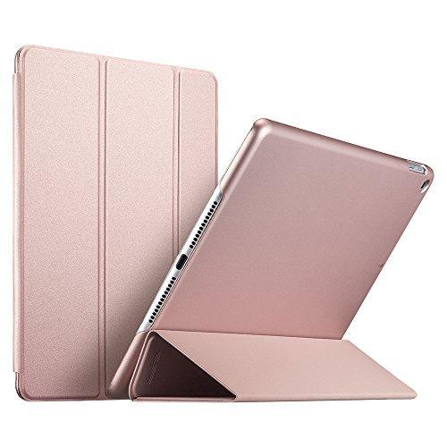 ESR Kunstleder Hülle kompatibel mit iPad 2018/2017 Modell 9,7 Zoll - Ultra dünnes Smart Case Cover mit gummierter Rückseite - Magnet mit Auto Sleep/Wake Funktion für iPad 6.Gen - Roségold